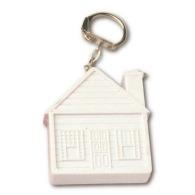 Porte-clés mètre-ruban 'maison' de 2 m