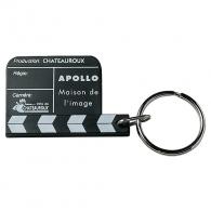 Porte-clés logoté Mini clap de film