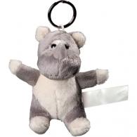 Porte clés peluche rhinocéros.