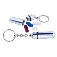 Porte-clés pilulier publicitaire