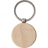Porte-clés rond en bois