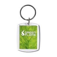 Porte-clés acrylique avec insert papier personnalisé