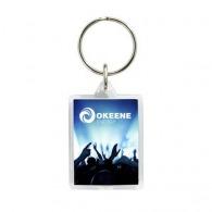 Porte-clés acrylique avec insert papier avec marquage