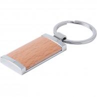 Porte-clés rectangle bois et métal