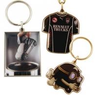 Porte-clés métal logoté quadri premium 30mm
