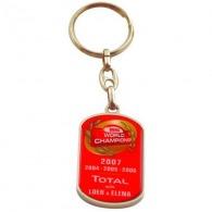 Porte-clés métal logoté quadri premium 40mm