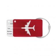 Porte-étiquette à bagage publicitaire en alu