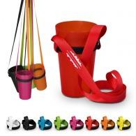 Porte-gobelets avec cordon tour de cou avec logo