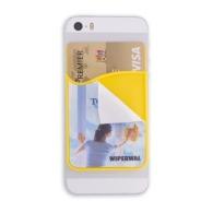 Porte téléphone, porte carte de crédit et nettoie écran
