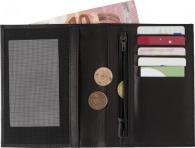 Portefeuille personnalisable RFID en croûte de cuir