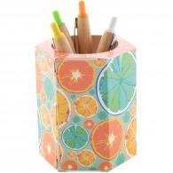 Pot à crayons logoté quadri