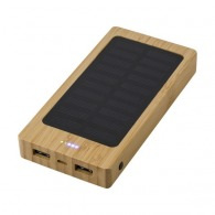 Powerbank personnalisable solaire 8.000 mAh bambou