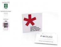 Préservatif personnalisable dans une pochette carrée de 70 mm