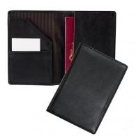 Funda de cuero para pasaporte con bolsillo
