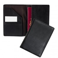 Protège passeport en cuir avec poche