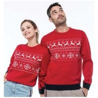 Pull personnalisable de Noël motif rennes
