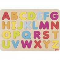 Puzzle en bois logoté alphabet