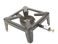 Réchaud personnalisable gaz fonte 4 pieds Brûleur fonte armature acier 40 x 40 x 18 cm