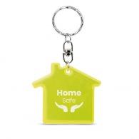 Porte-clés maison personnalisé réfléchissant