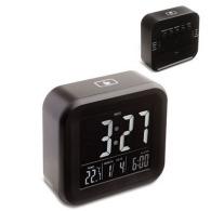 Reloj despertador con termómetro-antibio reflectante