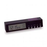 Reloj despertador de línea negra