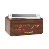 Réveil en bois avec chargeur sans fil