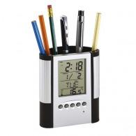 Réveil-LCD/porte-stylos