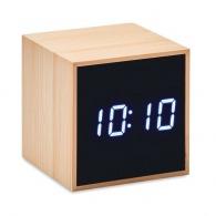Despertador de bambú en forma de cubo