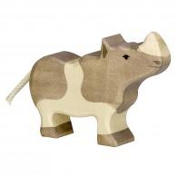 Rhinocéros en bois 10cm