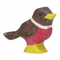 Oiseau en bois - Rouge-gorge