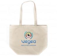 Off white cotton bag 370g gusset express 48h