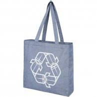 Sac personnalisé shopping à soufflet en polycoton recyclé 210g