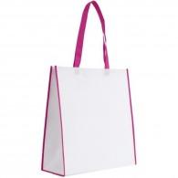 Sac shopping bicolore 38x40cm