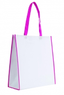 Sac shopping bicolore 38x40cm