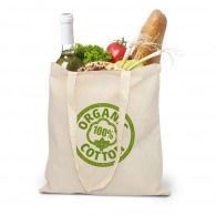 Sac personnalisé shopping en coton bio - tote bag naturel