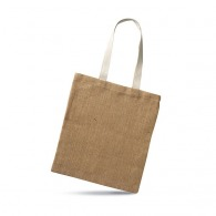 Sac logoté shopping en jute