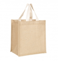 Sac shopping personnalisable en jute 25x26cm