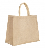 Sac shopping personnalisable en jute 43x34cm