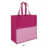Sac shopping publicitaire tricolore polyester 600d - burton