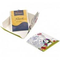 Sachet de thé sous enveloppe imprimée