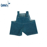Salopette en jeans pour peluche MBW