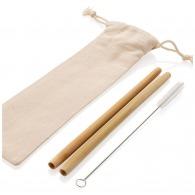 Set 2 pailles en fibres de bambou