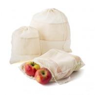 Set 3 sacs filet pour fruits et légumes