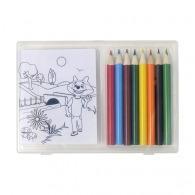 Set à dessin personnalisé de 8 crayons de couleur et 20 feuilles