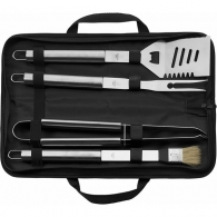 Barbecue set in a zip pocket