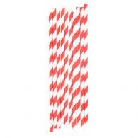 Set de 10 pailles logotées en papier