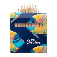 Set de 12 crayons sous étui quadri