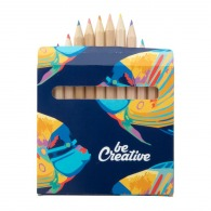 Set of 12 pencils in a four-colour case