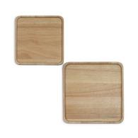 Set de 2 plateaux en bois logotés