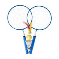 Juego de 2 raquetas de bádminton de metal